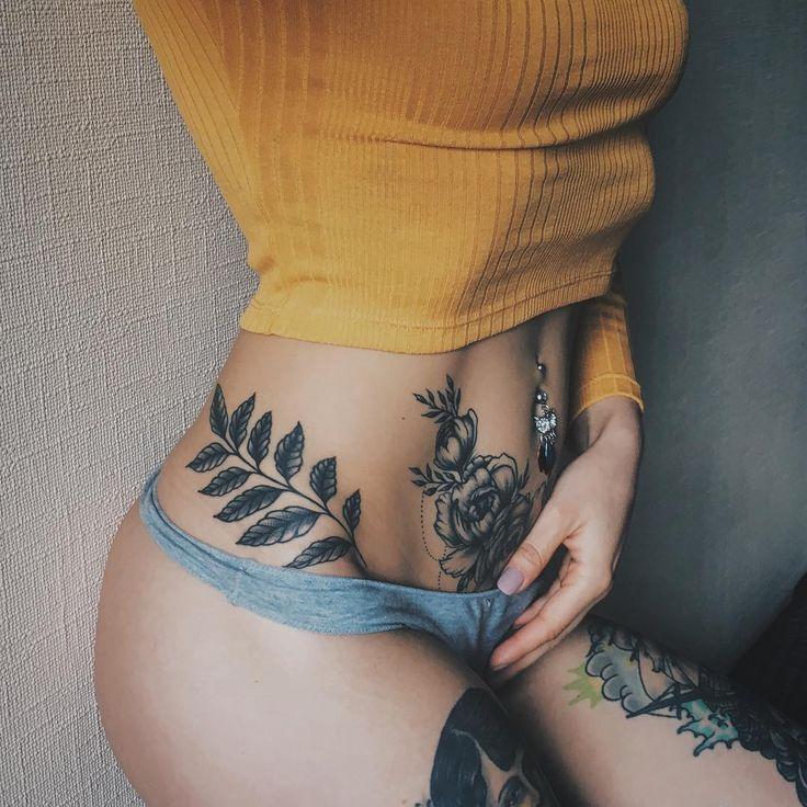girl with naked tattoo Amature butterfly