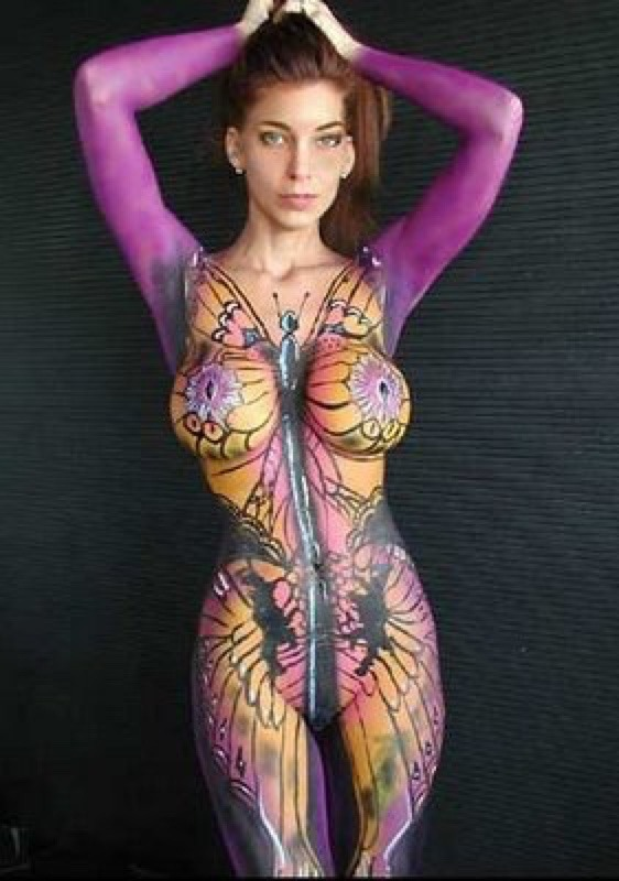 Body paint naked and hot