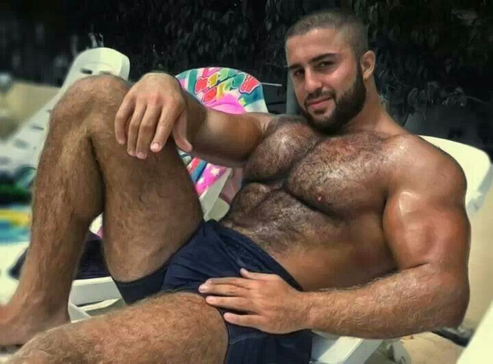 bear sex hairy muscle Gay men