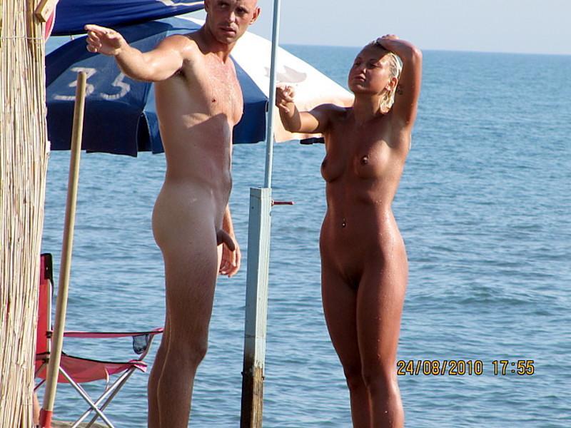 Big cock on nude beach