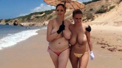 Nice tits topless beach