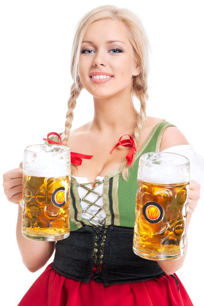 beer nude Oktoberfest girl
