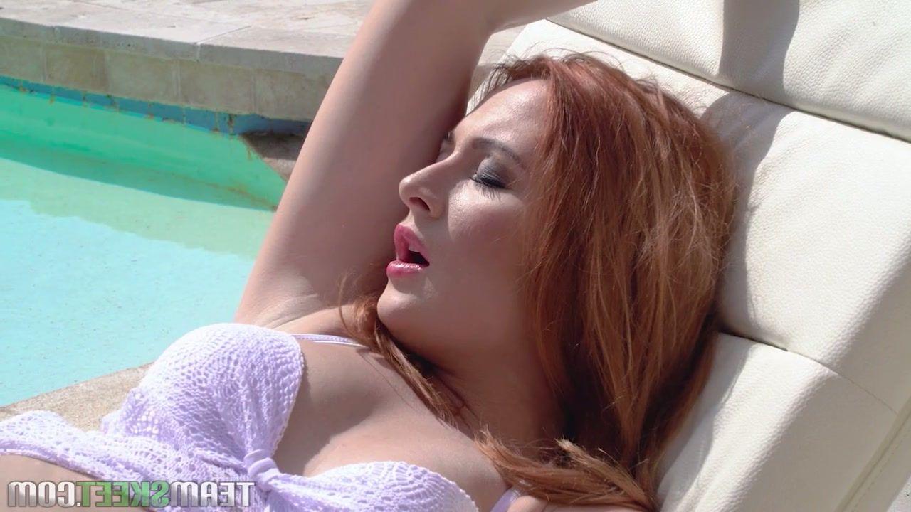 Sexy latina playing with hot sausage