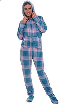 Nude girl in footy pajamas