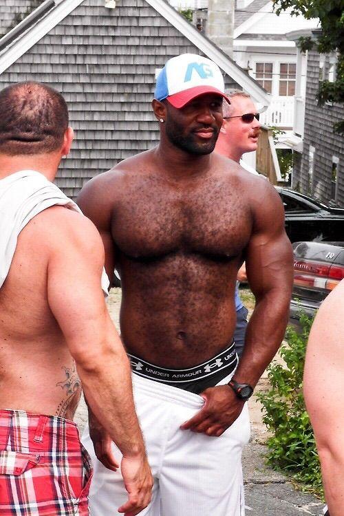 Hairy hung gay black men