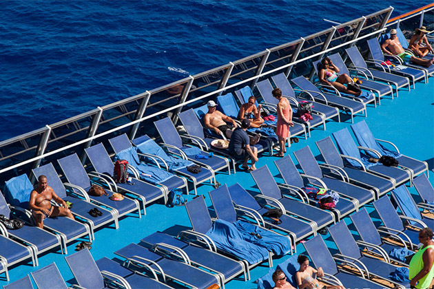 ship Caribbean topless cruise