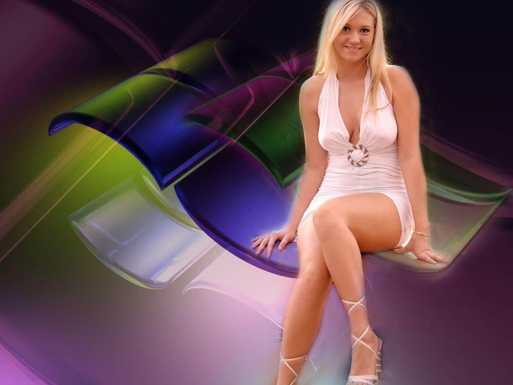 Alison angel white tank top mini skirt