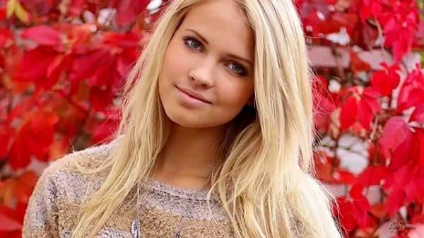 Most beautiful blonde woman
