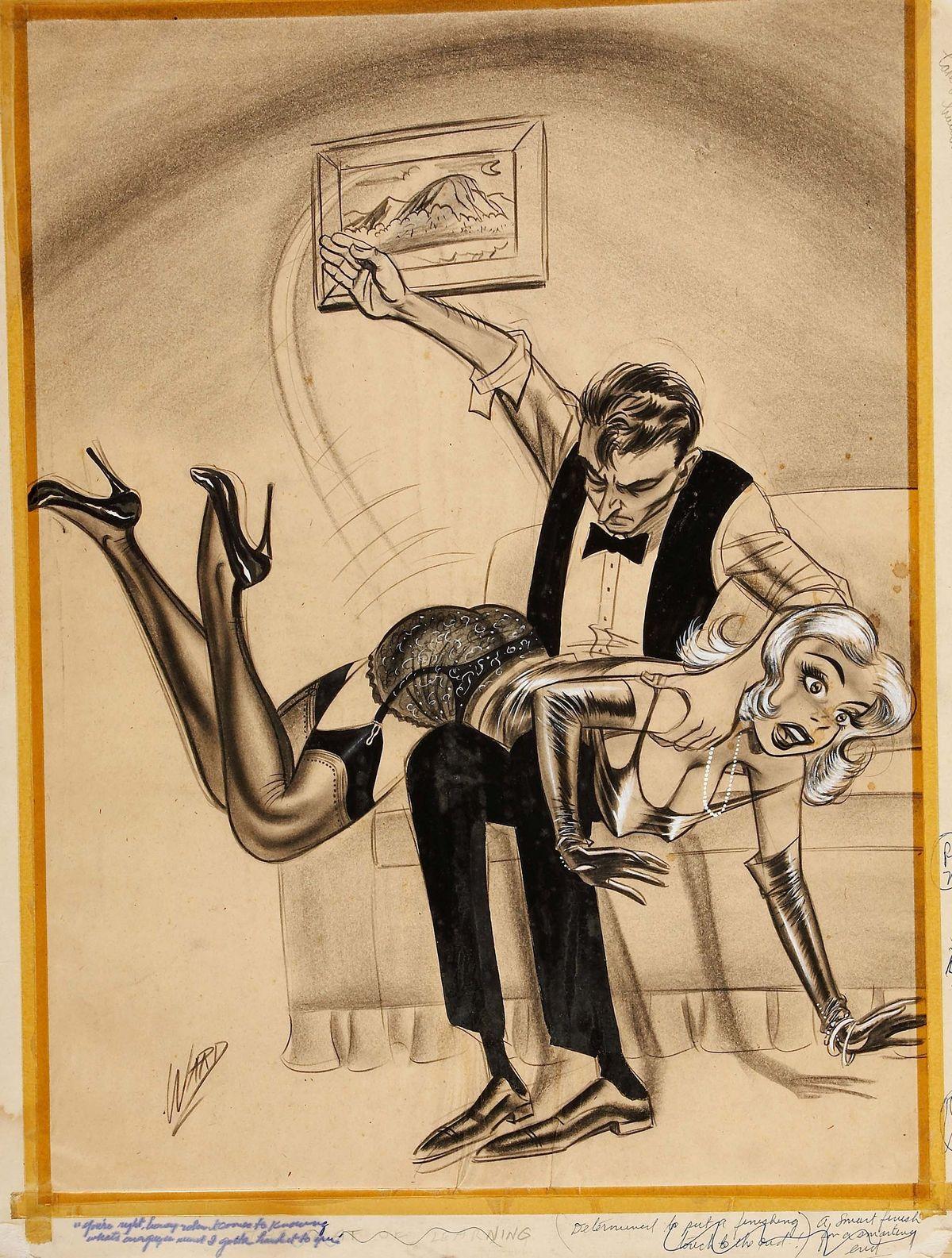 Domestic discipline spanking art