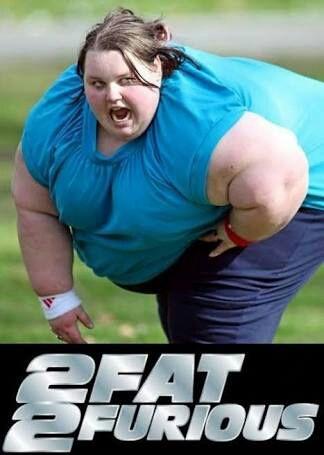 Girl jokes fat