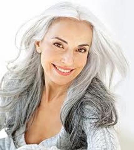 Beautiful natural older women