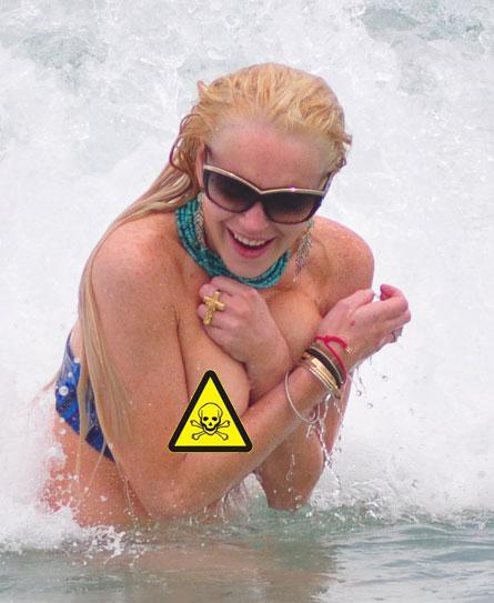 Lindsay lohan bikini oops