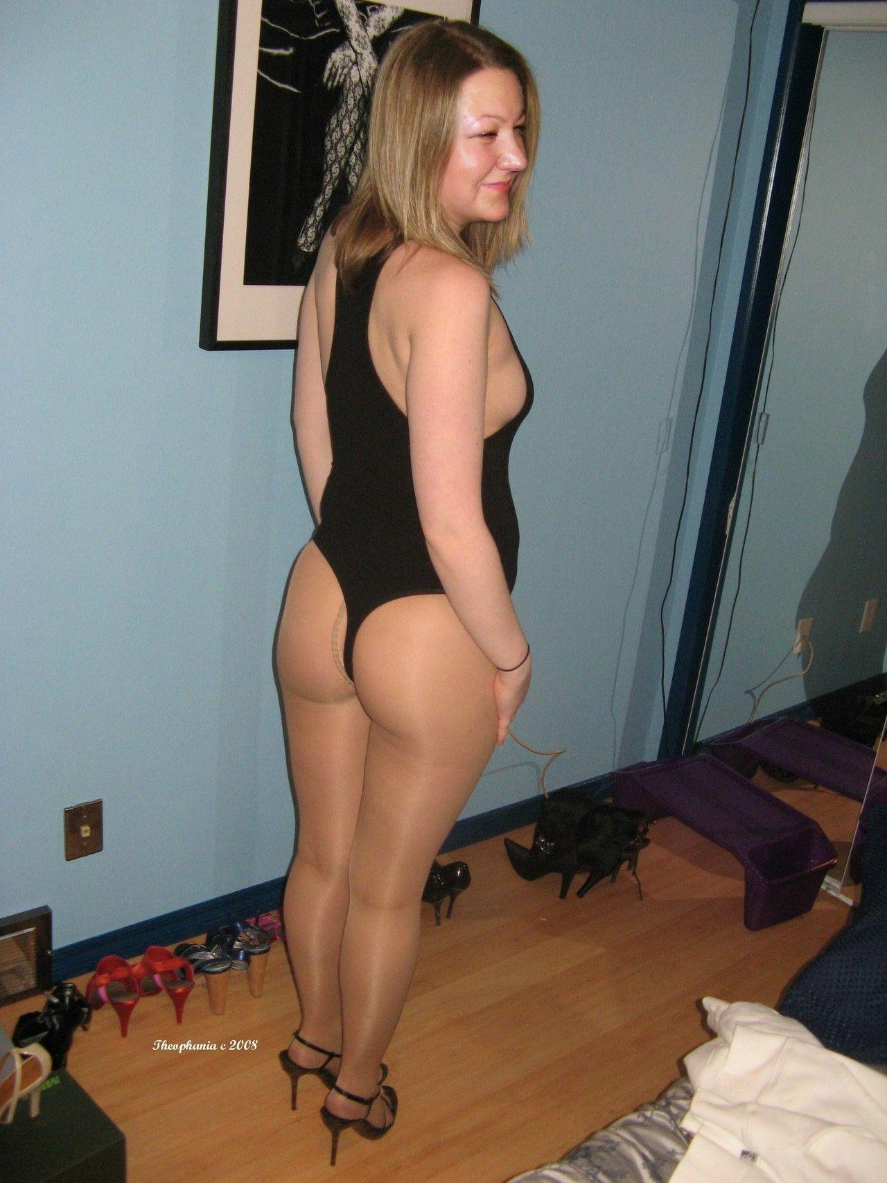 Sexy amateur mature pantyhose