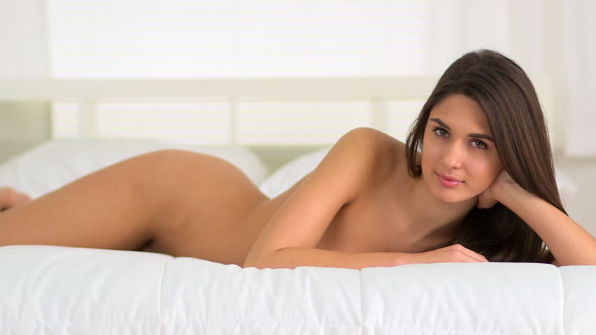Naked girl on bed